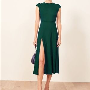NEW Aritzia Babaton Hamptons Dress — Scarab Green